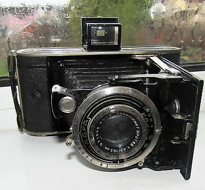 AGFA BILLY COMPUR Folding Bellows Camera Made in Germany