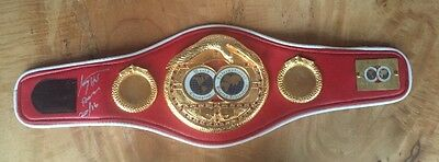 LARRY HOLMES 'The Eason Assassin' signed belt