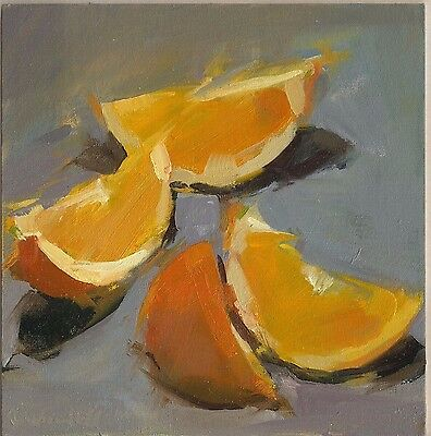 Framed original oil painting - Oranges- by S Quistelli