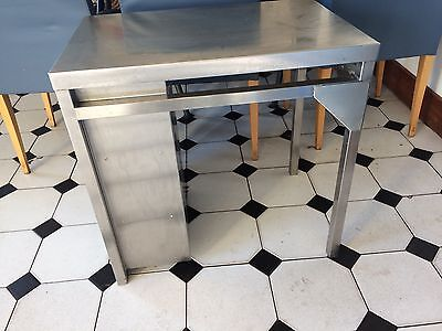 stainless steel low table with shelving