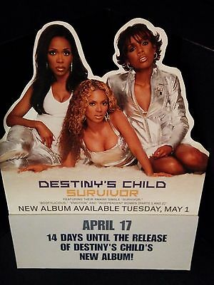 Destiny's Child - Survivor RARE PROMO Counter Top Stand* Jay Z Kanye TLC Aaliyah
