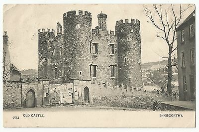 Old Postcard 'Old Castle' Enniscorthy Co Wexford 1904