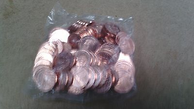 UK coin 1 pence 2016 1p bag of 100 UNCirculated coins