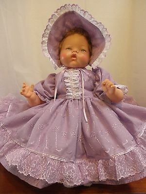 Lavender Eyelet Outfit for 19-20 Inch Thumbelina Doll by Pam's Creations