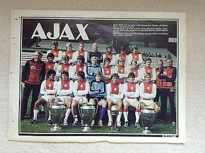 SHOOT Football Magazine Team Picture Poster Ajax Of Amsterdam