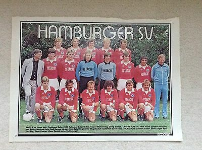 SHOOT Football Magazine Team Picture Poster Hamburger SV West Germany
