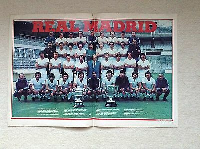 SHOOT Football Magazine Team Picture Poster Real Madrid