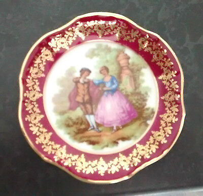 limoges small plate with figures on