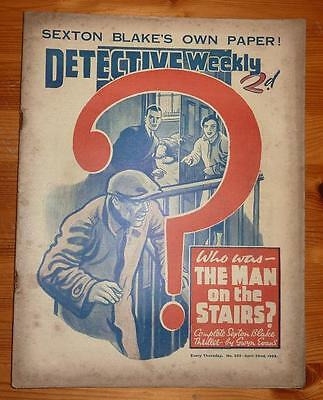 DETECTIVE WEEKLY No 322 22ND APRIL 1939 WHO WAS THE MAN ON THE STAIRS? S BLAKE