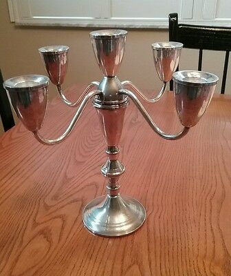 Vintage Duchin Creation Sterling Silver 5 Light Candelabra - Weighted