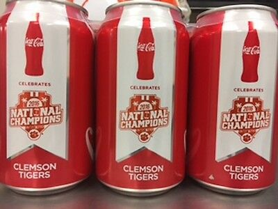 ** 1 COKE CAN** Clemson Tigers 2016 National Champions Coke Can **Coca Cola**1