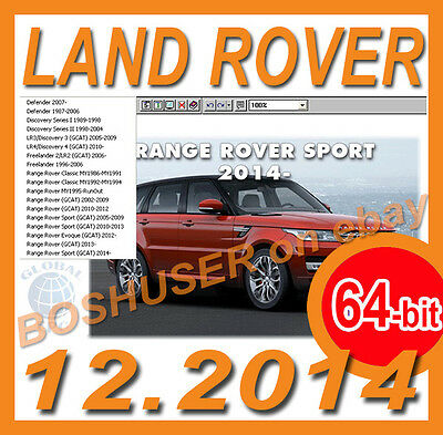 64-bit 12/2014 LAND RANGE ROVER EPC PARTS CATALOGUE+PRICES RICAMBI TEILEKATALOG