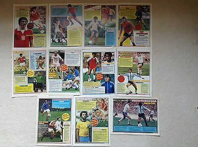 SHOOT Football Magazine Player Posters 'World Cup Stars To Watch' 1982 Spain