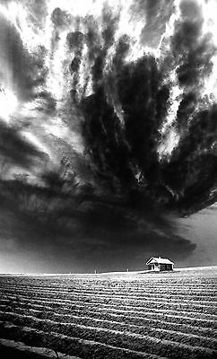 """Signed Limited Edition B/W Print Titled """"Storm Over the Texas Panhandle"""""""