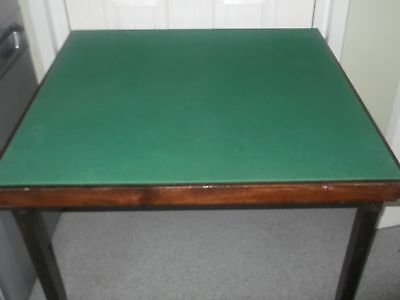 Folding Green Baize Topped Card Table.COLLECTION ONLY PLEASE.