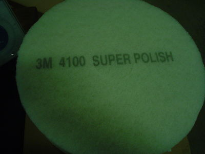 Box of 5  3M  4100 Super Polish Floor Pad 15 inch - New in box - 60 day wnty.