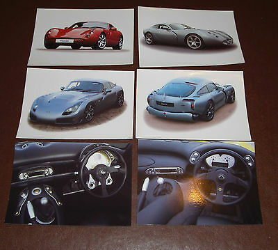 TVR Promotional Data Cards - Tuscan, Typhon, Sagaris, Tamora