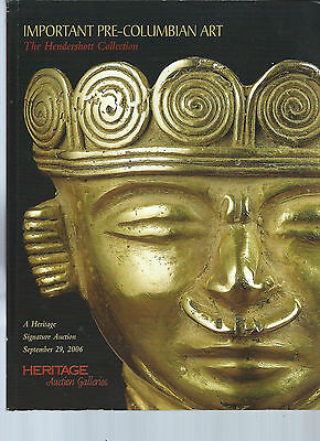 Heritage Important Pre-Columbian Art the Hendershott Collection Session 1 of 2