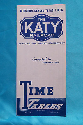 The Katy - Timetable Condensed - Feb. 1959 - #143