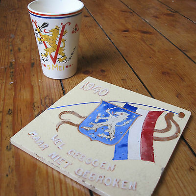 Liberation Day Memorial Holland Netherlands WWII WW2 Second World War Cup Tile