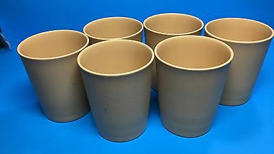 Lot Of 6 Vintage Tupperware 6 Oz Harvest Gold Tumblers Stackable  Cups #1251 Usa
