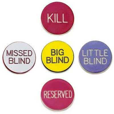1'' Button Combo Pack (Little, Big, Kill, Miss, Reserve) Purple Red White Yellow
