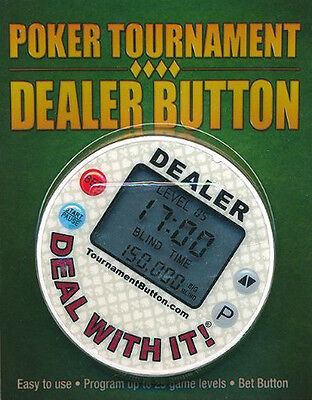 Poker Tournament Dealer Button Black Blue Red Casino - Timer