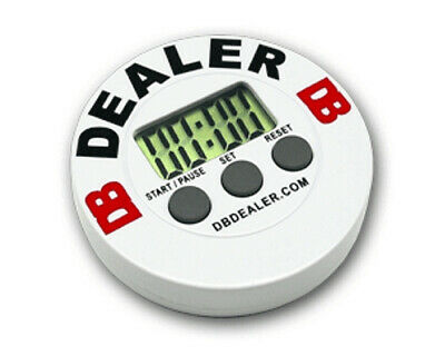 DB Timer Dealer Button Red Poker Casino -