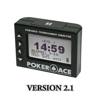 Poker Ace Portable Tournament Director 2.1 -Battery Operated Programmable Timer