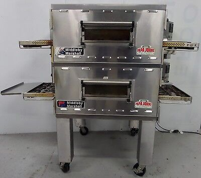 Middleby Marshall Double Ps536Gs Gas Conveyor Pizza Ovens With 18″ X 36″ Belts