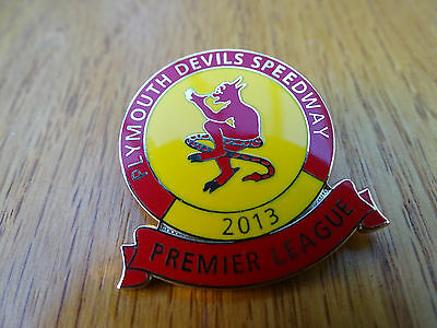 Plymouth Devils Speedway Official Club Metal Badge 2013