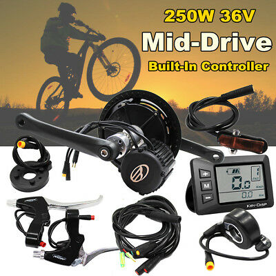 250W 36V Mid-Drive Motor Electric Bike Kit EBike Parts W' Built-in Controller AU