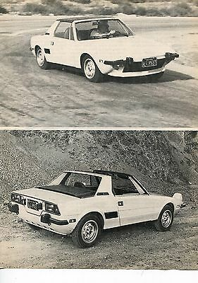 1974 FIAT X/19  6 pg Road Test Article