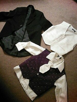 Boys wedding jacket/waistcoats and tie age 18-23 months
