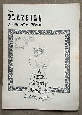 """Vintage 1950s PLAYBILL """"A Tree Grows In Brooklyn"""" For The Alvin Theatre"""