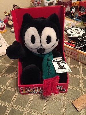 Felix The Cat Plush With Green Scarf