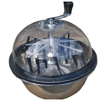 """Tumble Trimmer Leaf Bud Spin Plant Cutter Bowl 16"""" Hydroponics Stainless Hotsale"""