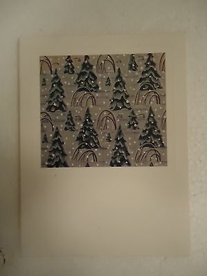 Rockwell Kent SNOW LADEN PINES Christmas card.