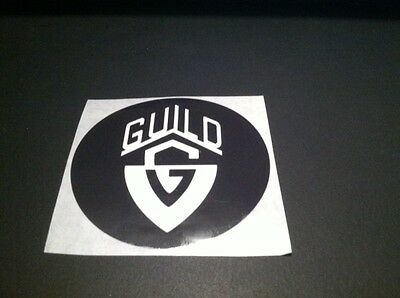"Guild Guitars Custom Round 3"" sticker"