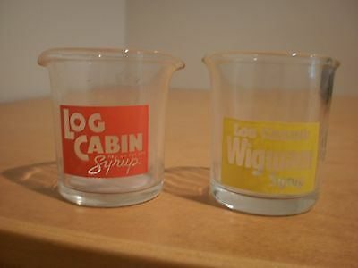 Log Cabin Syrup & Wigwam Syrup individual pourers