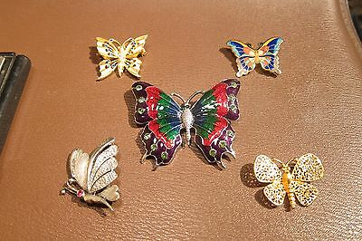 Fabulous Lot of Victorian/Vintage Butterfly Brooch / Pin Jewelry No Scrap 72g