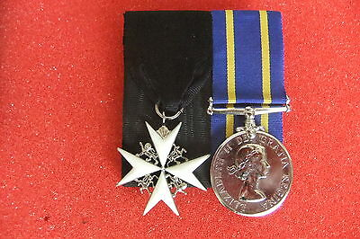 RCMP Long Service Good Conduct Medal with an Order of St. John's Cross