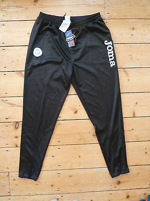 size:2XL QUEEN of the SOUTH football TRACK BOTTOM JOMA Black Soccer JOGGERS