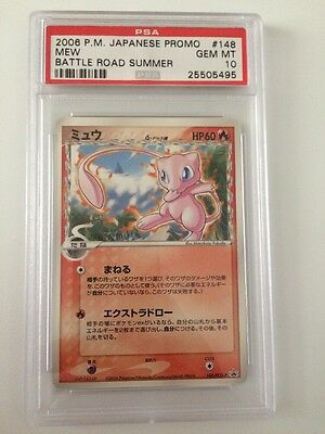 Pokemon Cards Japanese Psa 10 Mew Battle Road Summer 2006 Promo 148/PCG-P Delta