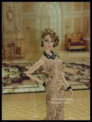 1/6  fashion royalty dress mesh suit gown robe fit barbie enterbay female dolls