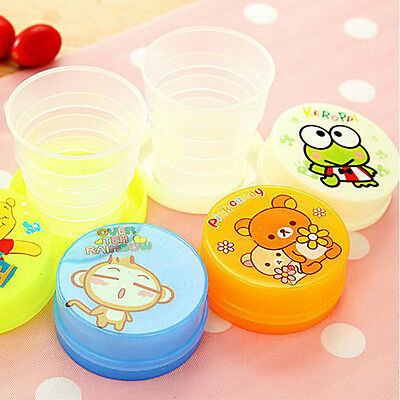1x Cute Travel Cartoon Telescopic Collapsible Folding Flexible Cup Kids Toys Gif