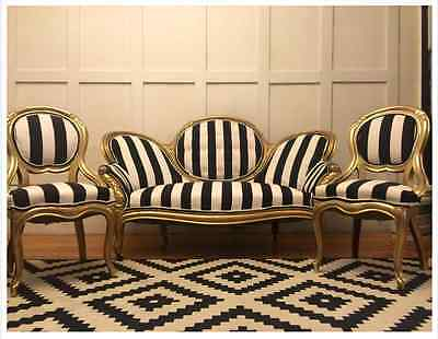 Antique victorian settee/love seat and 2 chairs living room set