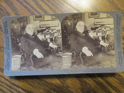 PRESIDENT mCkINLEY AT COUNCIL TABLE 1900 STEREO VIEW CARD STEREOVIEW