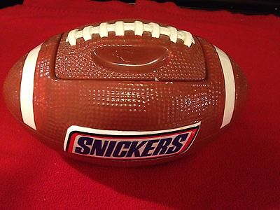 Snickers Ceramic NFL Football Candy Cookie Dip Jar From MARS Gallerie