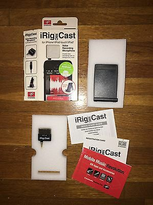 IK Multimedia iRig MIC Cast Voice Recording Mic For Apple iPhone or Android NEW